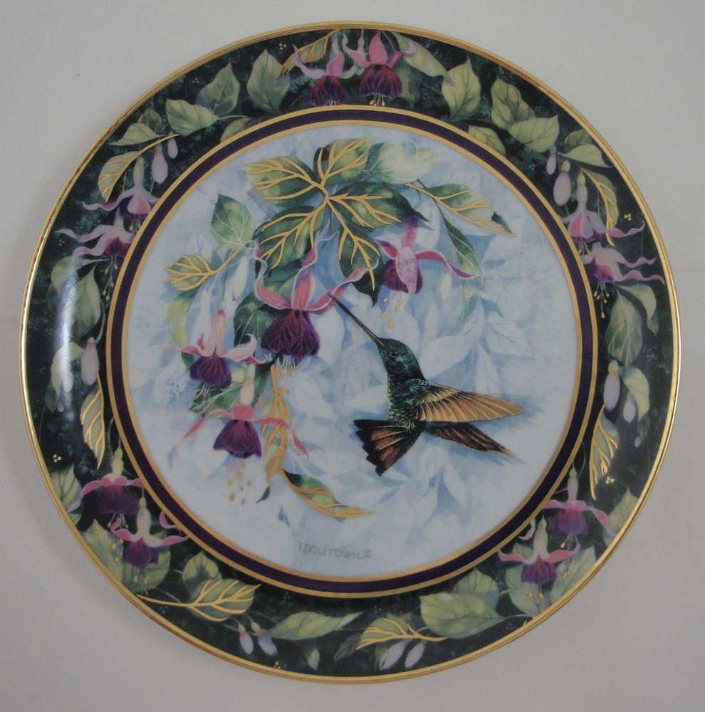 Theresa Politowicz Berylline Hummingbird Plate Royal