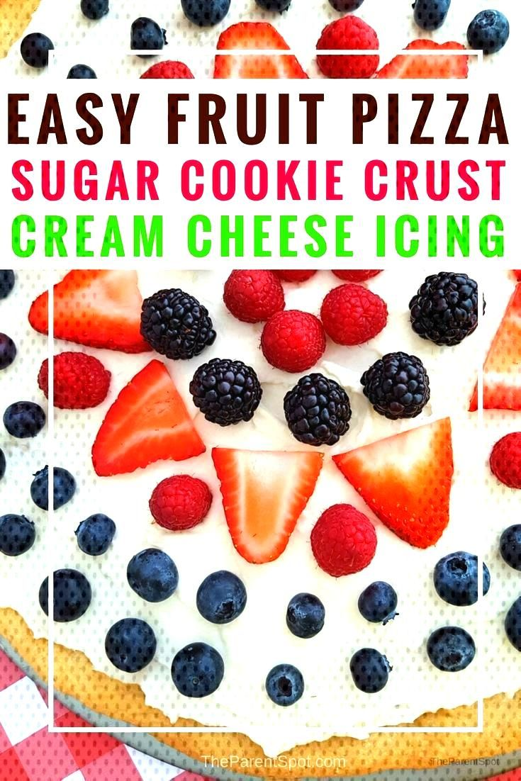 Strawberry Pizza Recipe with Sugar Cookie Crust -