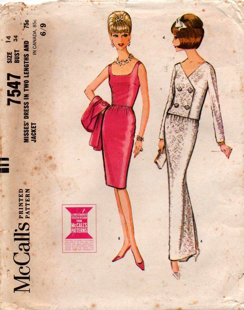Mccallus womens evening sheath dress u jacket s vintage