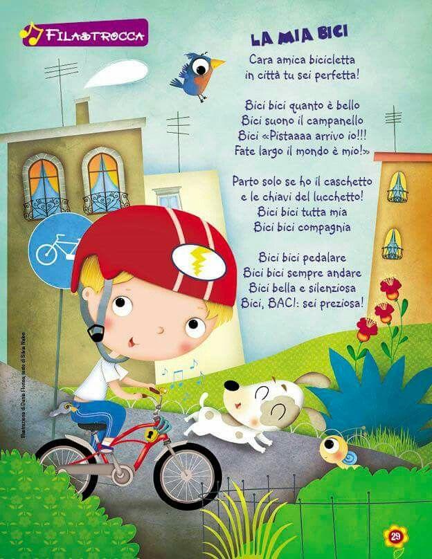 Filastrocca La Mia Bici Poesia Pinterest Education Study E