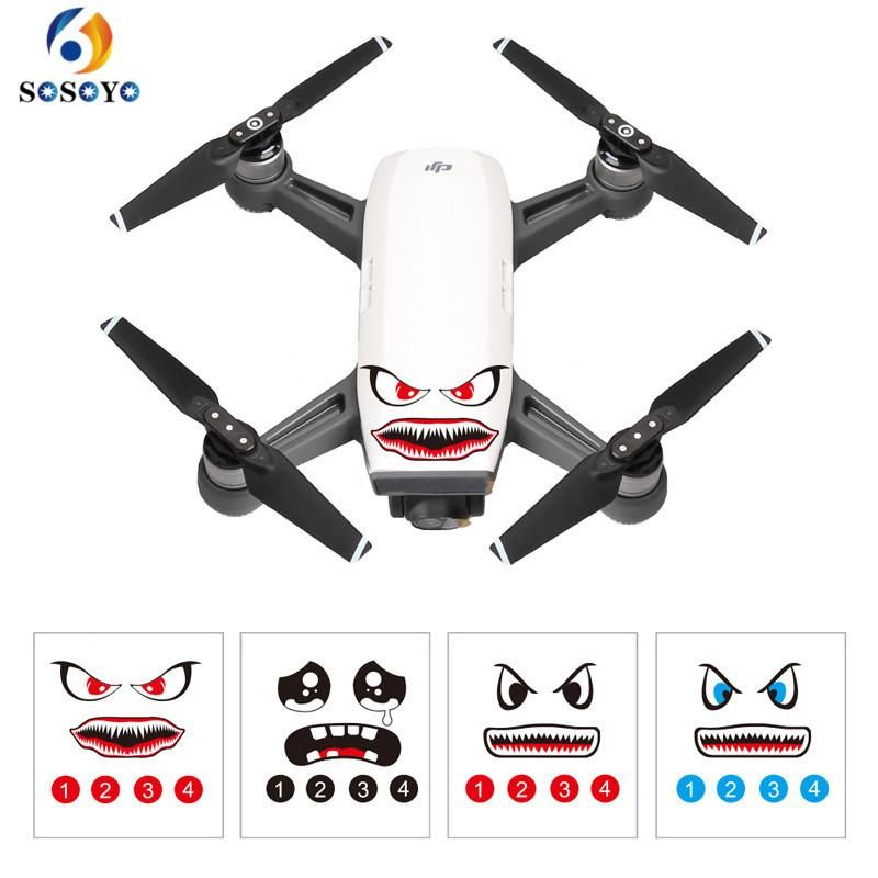 RC Quadcopter Spare Parts Boddy and Transmitter Stickers For DJI Mavic Pro