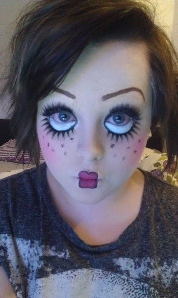 maquillaje de mueca prrafo halloween