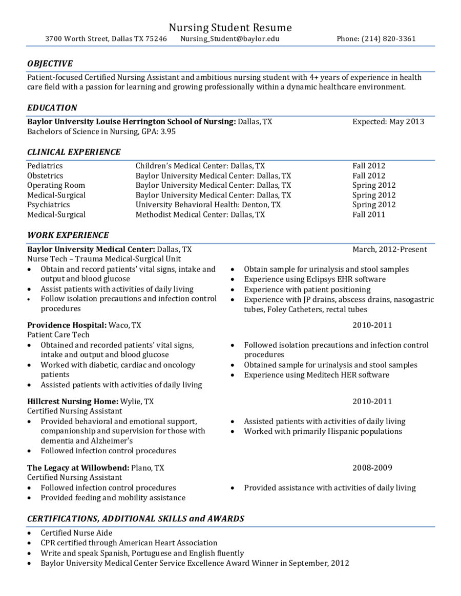 Resume Examples Nursing Student Examples Nursing Resume Resumeexamples Student Nursing Resume Template Nursing Resume Examples Student Resume