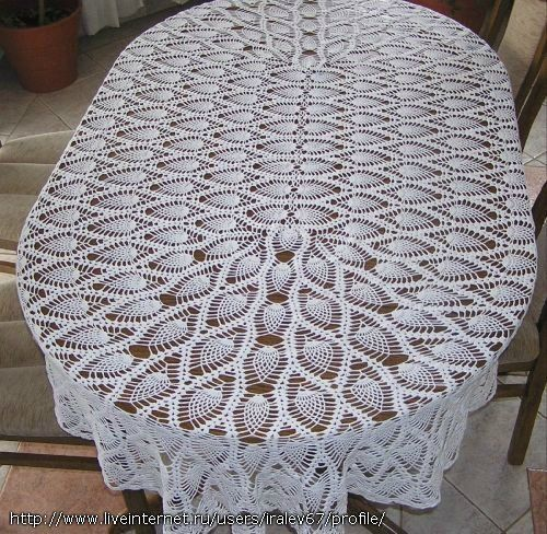 toalha oval ponto abacaxi | croché | Pinterest