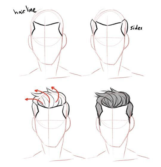 Male Hairline Drawing Reference Google Search Drawing Hair Tutorial How To Draw Hair Guy Drawing