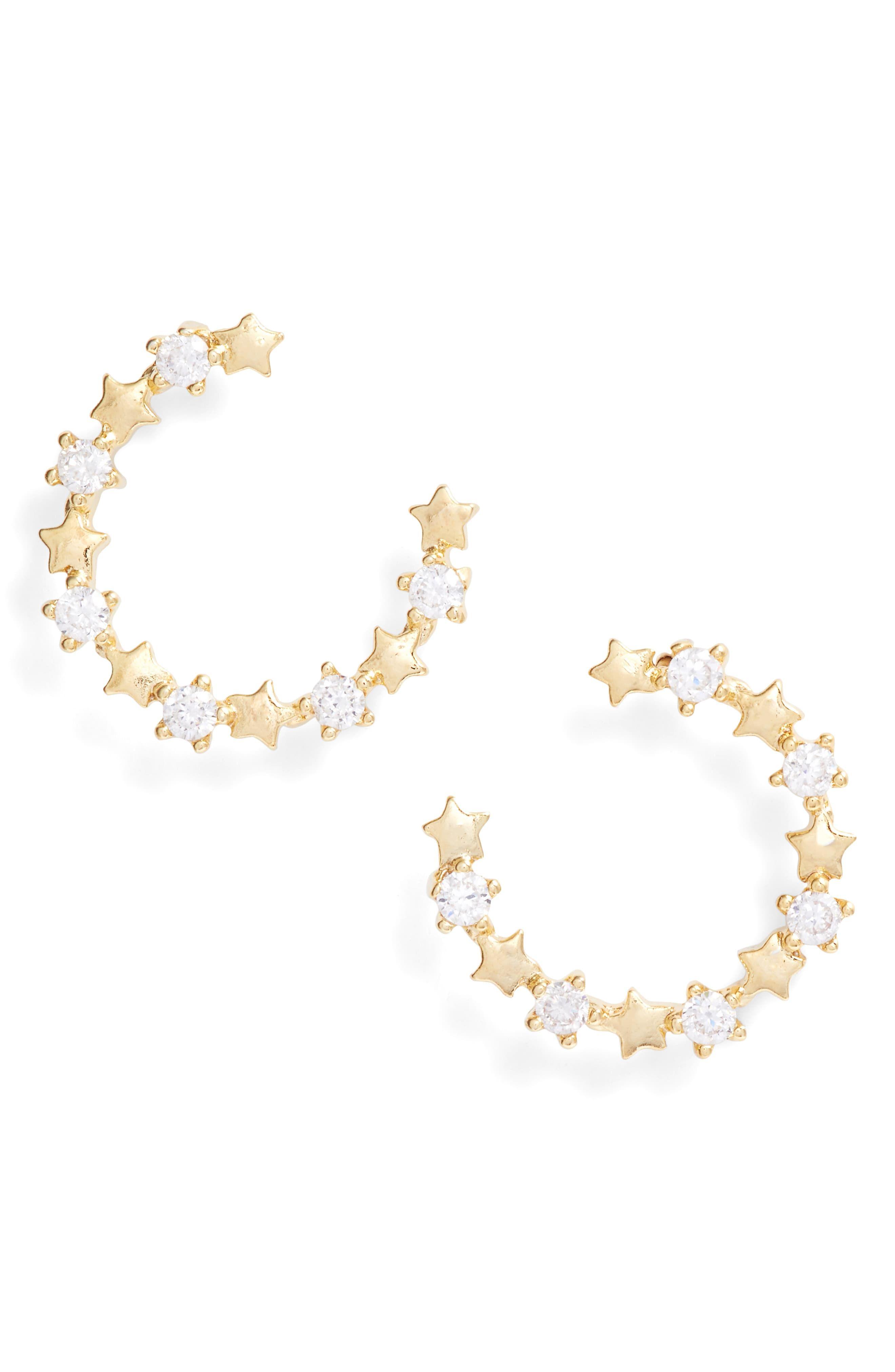826f7ef77bef04 Women's Bracha Wishful Hoop Earrings | Products in 2019 | Hoop ...