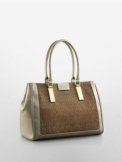 b80bb8399f brynn suede + faux leather carryall bag | Calvin Klein--$209.50 ...