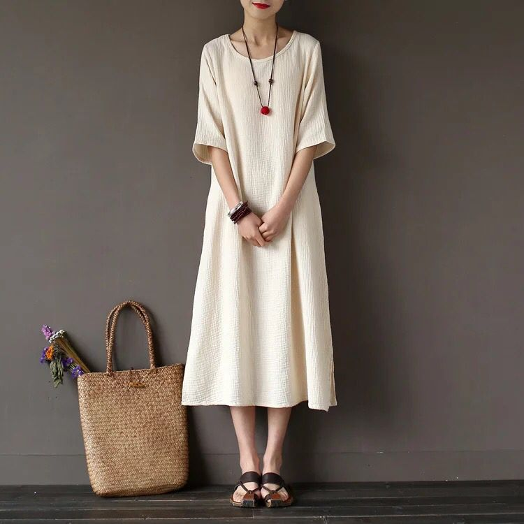 Cotton linen Causel linen dress 6.13 new arrival free shipping one day