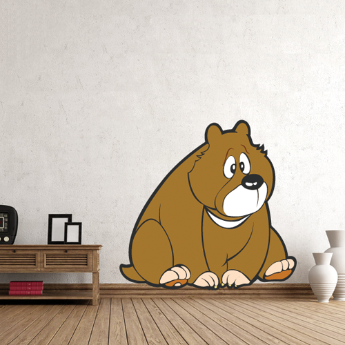 Wandtattoo  -  Bär sitzend
