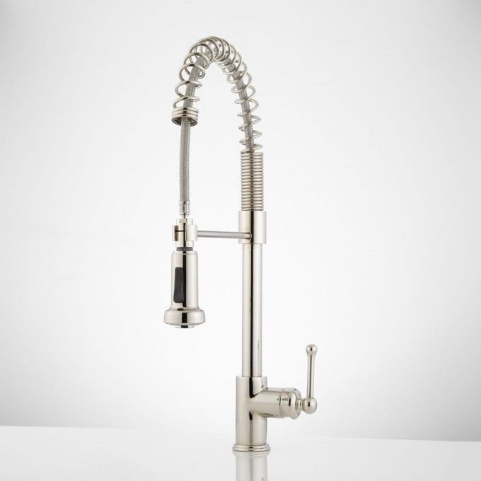 Rachel Pull Down Kitchen Faucet With Spring Spout With Images Polished Nickel Kitchen Faucet Kitchen Faucets Pull Down Kitchen Faucet Reviews
