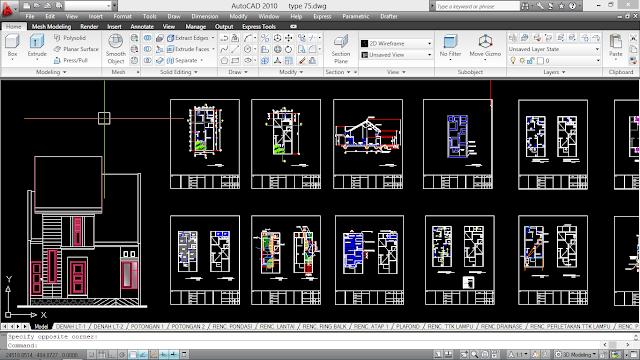Download Desain Rumah Minimalis Dwg Cek Bahan Bangunan