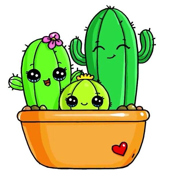 Cactus Family Dibujos Kawaii Dibujos Kawaii 365 Dibujos Bonitos