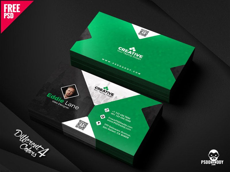 Free Business Card Design Templates Bundle | Business card design ...