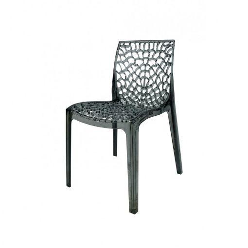Smoke Transparent Madisyn Chair At MDM Furniture