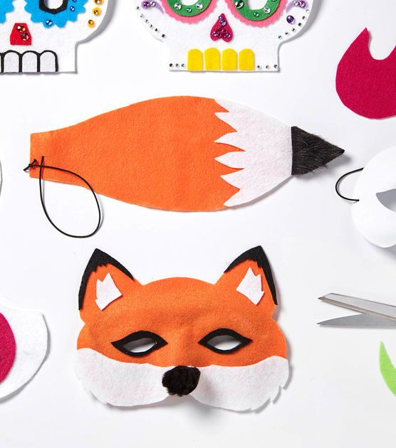 Felt fox mask and tail costumes pinterest carnavales for Fantastic mr fox mask template
