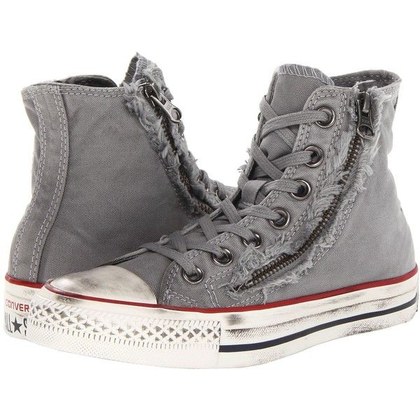 a25e4eec6fec Converse Chuck Taylor All Star Double Zip Hi (Drizzle Egret) Classic...  ( 28) ❤ liked on Polyvore featuring shoes