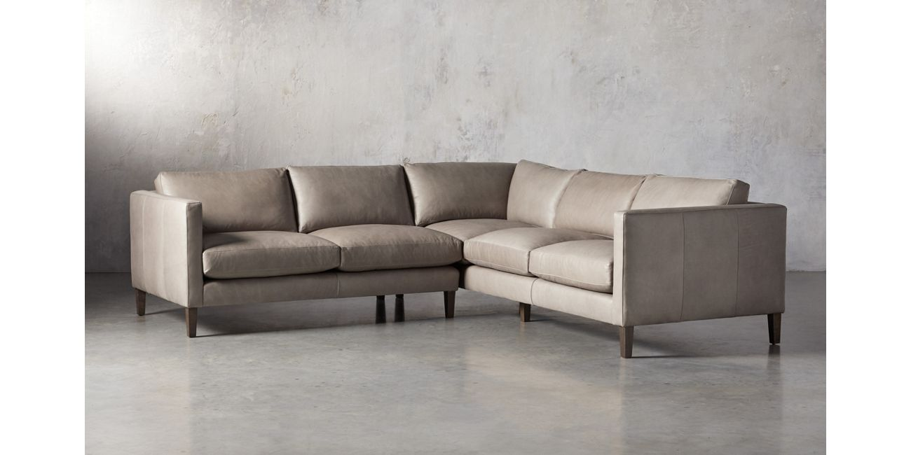 Radford Leather Two Piece Sectional | Arhaus Furniture ...