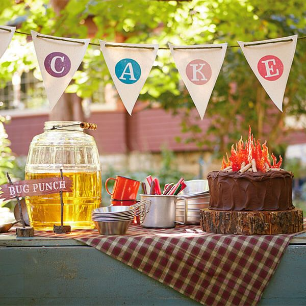 Camping Birthday Party Ideas Camp Way Over The Hill Camping Theme Party Glamping Birthday Party Camping Birthday Party