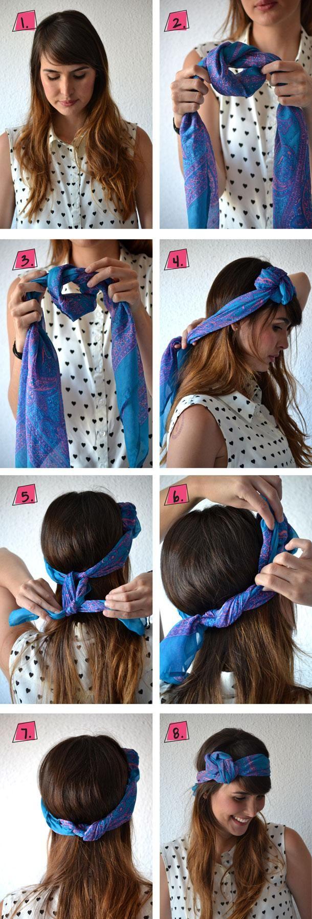 Tie Bandana 26 Grosse Bandana Firsuren Mit Anweisungen Anweisungen Bandana Firsuren Haar Styling Schal Frisuren Frisur Knoten