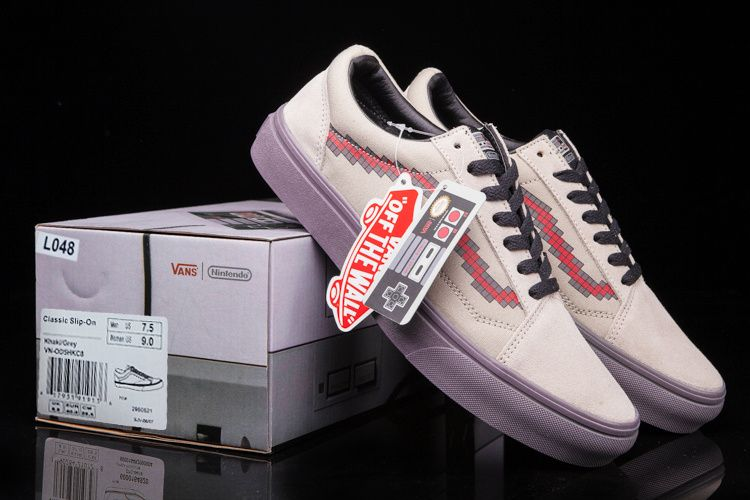 1b82e40a3d7 vans X Nintendo co-Union Vans Pixons box classic low to help couple shoes  36-4411  Vans