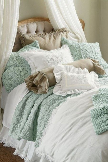 Diamond Quilt From Soft Surroundings Shabby Mint Cottage