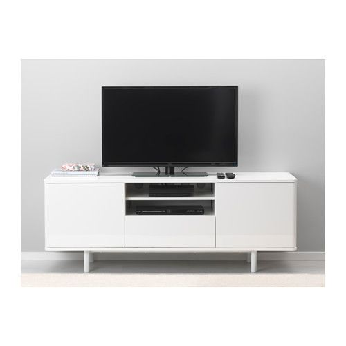 Mostorp tv unit ikea the large drawer makes it easy to - Ikea tv wand ...