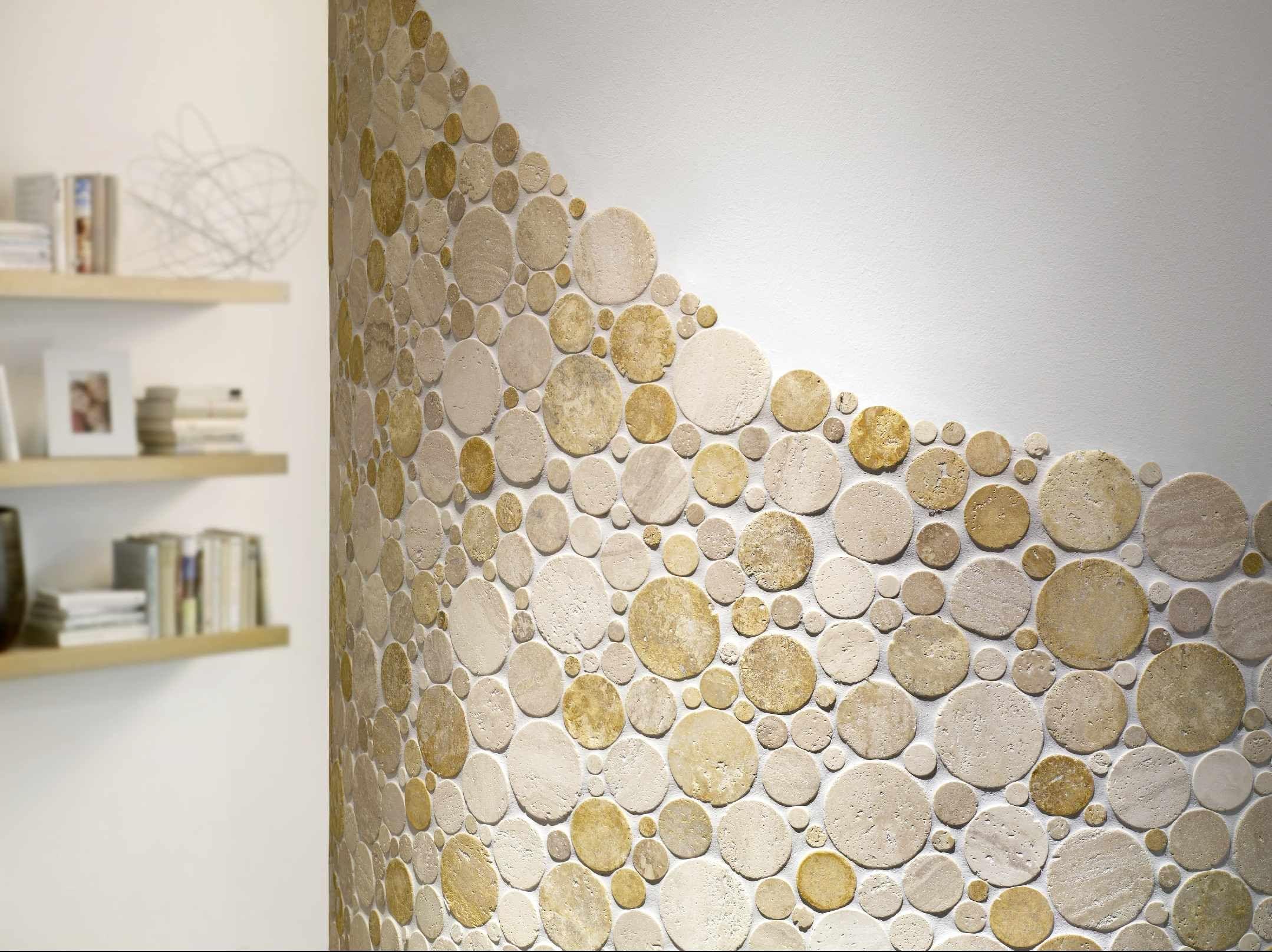 Naturstein Mosaik CIRCLE von Bärwolf - Natursteinmosaik mit