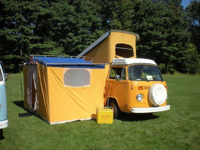 Volkswagen Campmobile With Auxiliary Tent | Making over our VW van