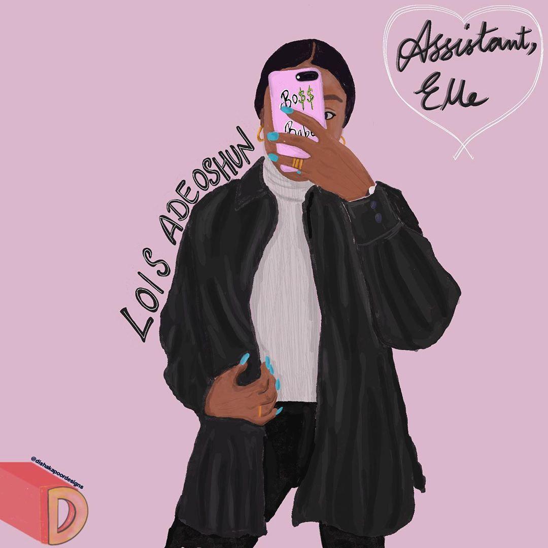 @dishakapoordesigns x @fashion.intern ...@dishakapoordesigns x @fashion.intern  An illustration of @misslouise__ 🥰  More interesting stuff coming up soon! 💖  .  .  .  #fashionbranding #fashionillust #fashion #illustration #illustratorsoninstagram #illustrationartists #ellemagazine #intern #fashioninfluencer