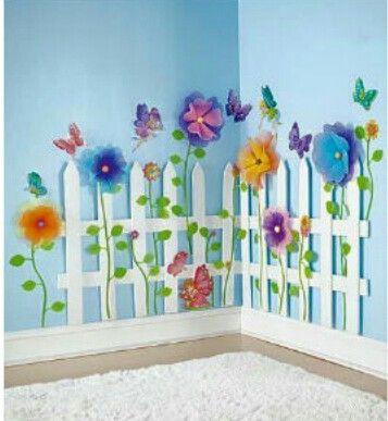Decoraci n de primavera para los pasillos del cole o el for Decoracion primavera infantil