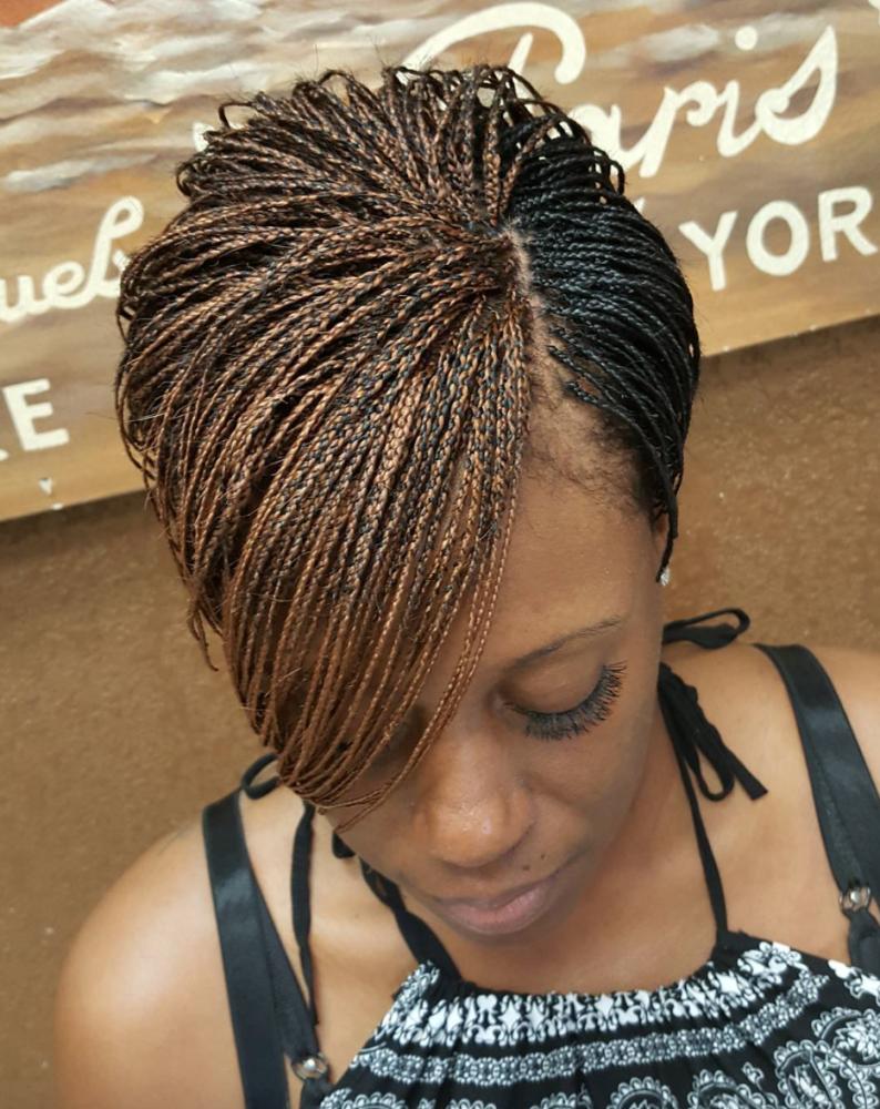 Dope braided pixie via braidsbytasha community