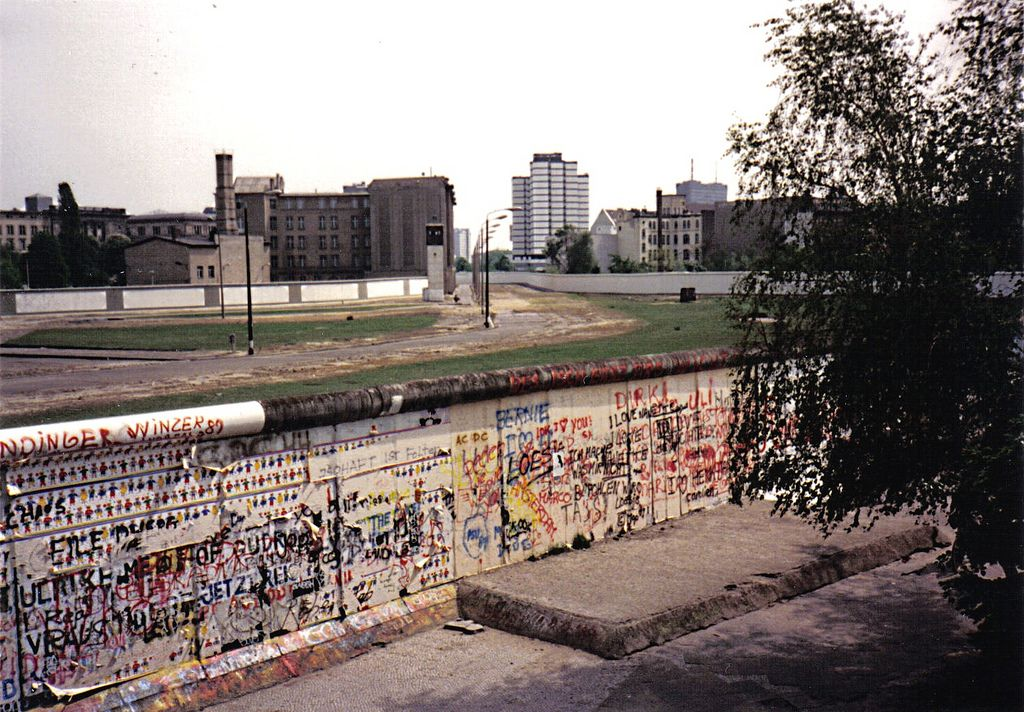 Potsdamer Platz, Berlin, May 1989. The wall 6 months before it came down.