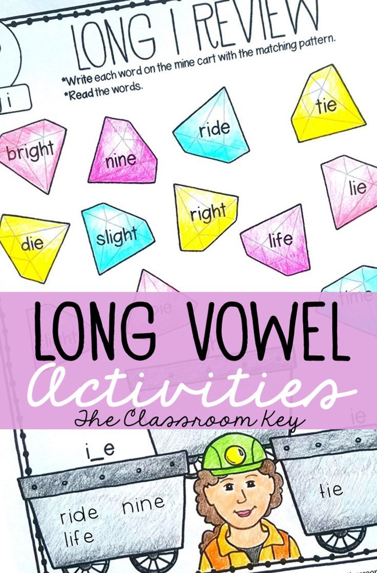 Long Vowel Activities for 1st & 2nd Grade Phonics RF.1.3.C
