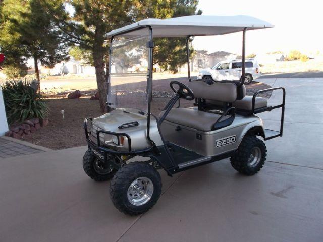 2007 e z go golf cart golf cart metallic gold for sale. Black Bedroom Furniture Sets. Home Design Ideas
