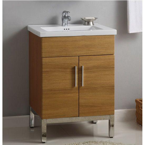 Empire 24 Inch Daytona Vanity For Kira Ceramic Sinks Golden Wheat And Satin Hardware Bathroom Vanities