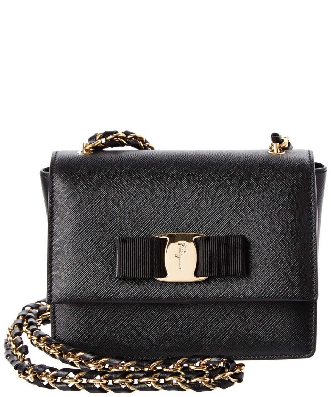 cf7e6b34a2 SALVATORE FERRAGAMO Salvatore Ferragamo Ginny Vara Mini Leather Flap Bag .   salvatoreferragamo  bags  shoulder bags  leather  lining