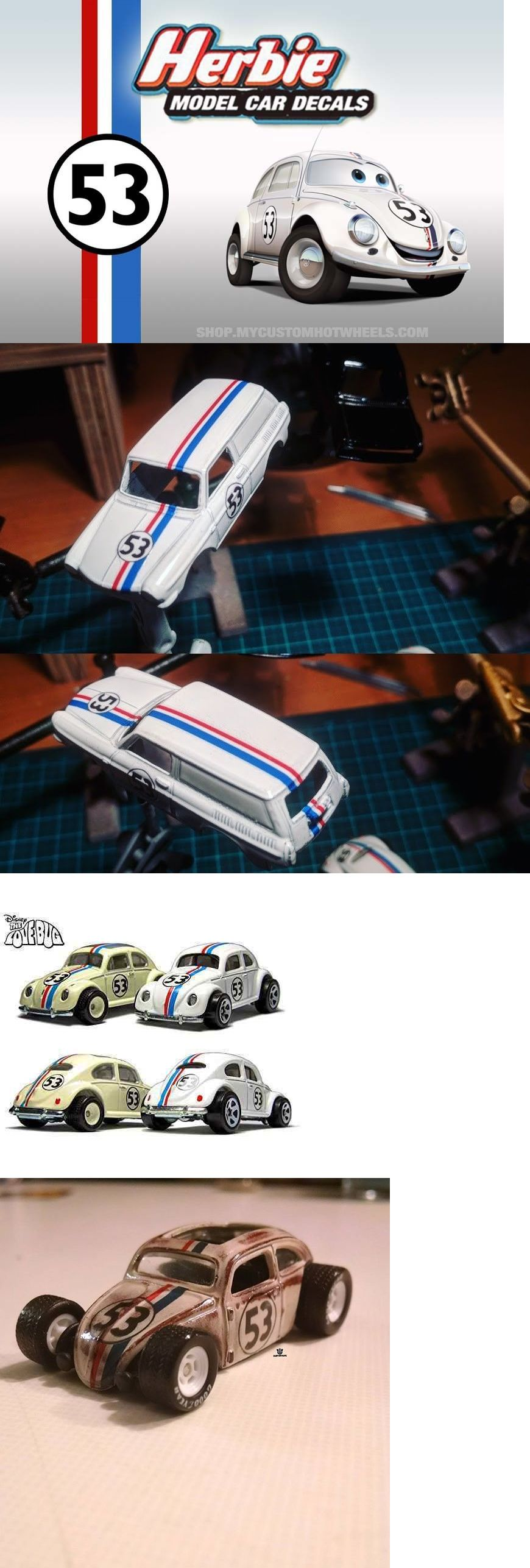Herbie Decals Waterslide Decals For Model Cars In All Scales From 1 64 To 1 18 Vinyl Wrap Car Custom Car Decals Car Model [ 2573 x 870 Pixel ]