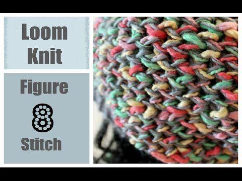Loom Knitting Stitches Figure 8 Stitch On A Round Loom Loom