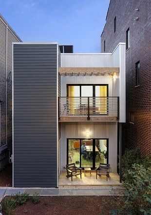 House Tour Chicago S C3 Modular House Small House Exteriors Narrow House Designs Small House Design