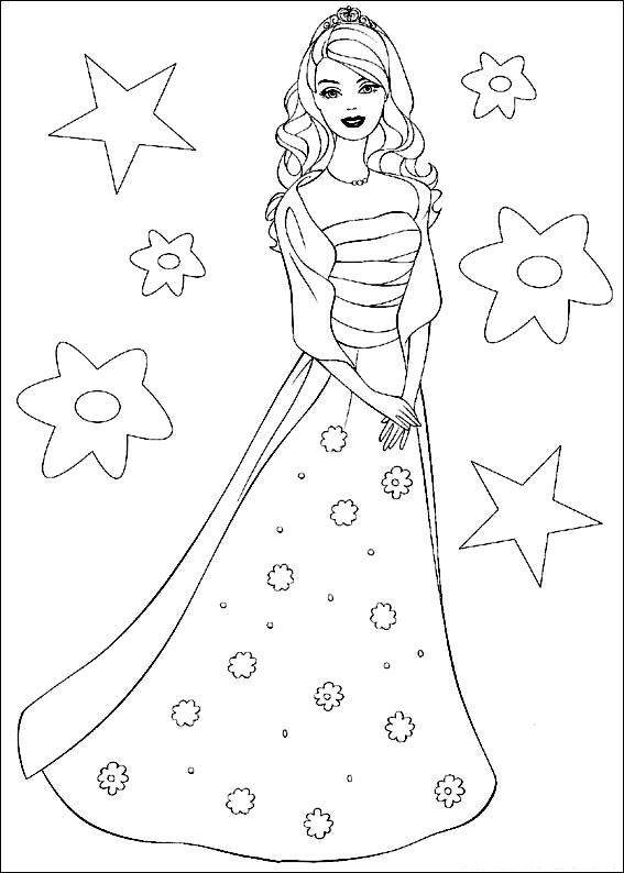 Princess Free Disney Barbie Coloring