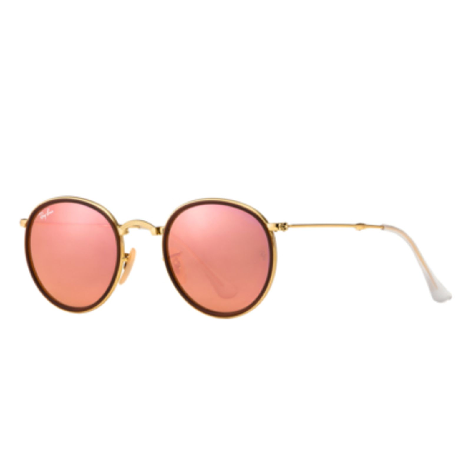 75b2e72e8 Óculos De Sol Ray-Ban Round RB3517 Dobrável Ouro | Products | Ray ...