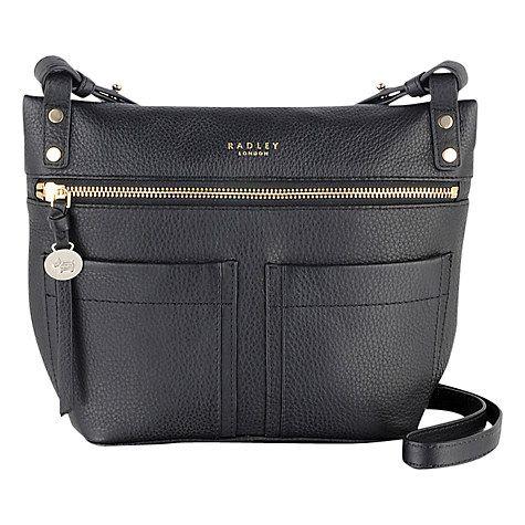 Radley Kensal Leather Across Body Bag Black Online At Johnlewis