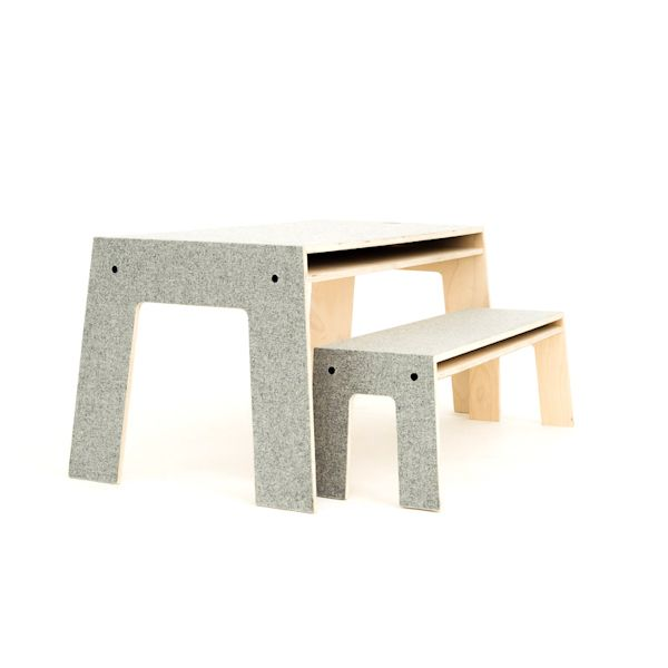Unique And Stylish Table And Bench Set For Children.