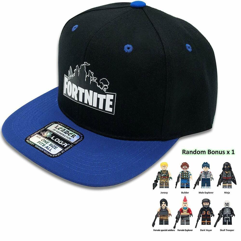 best sneakers e21b4 a980f Fortnite Adjustable Hat Cap, Blue Black Unisex with Minifigures  fortnite   fortnitebattleroyale  live