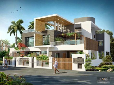 Ultra Modern Home Designs: House 3D Interior Exterior Design ...