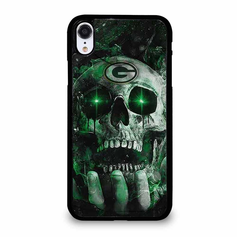 Green bay packers skull 2 iphone xr case