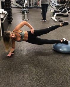 abs side plank with a leg lift on bosu followed