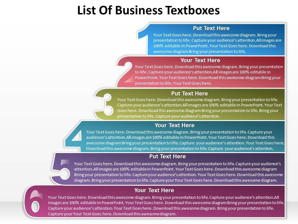 Powerpoint list google search powerpoint pinterest business powerpoint templates list of textboxes sales ppt slides toneelgroepblik Image collections