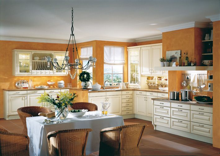 Mediterran Landhaus  Küchen  Asmo Küchen cuisine Pinterest