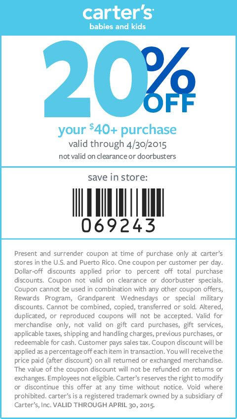 graphic about Carters Printable Coupons known as Internet websites-Carters-Web site Little one Garments Printable discount coupons
